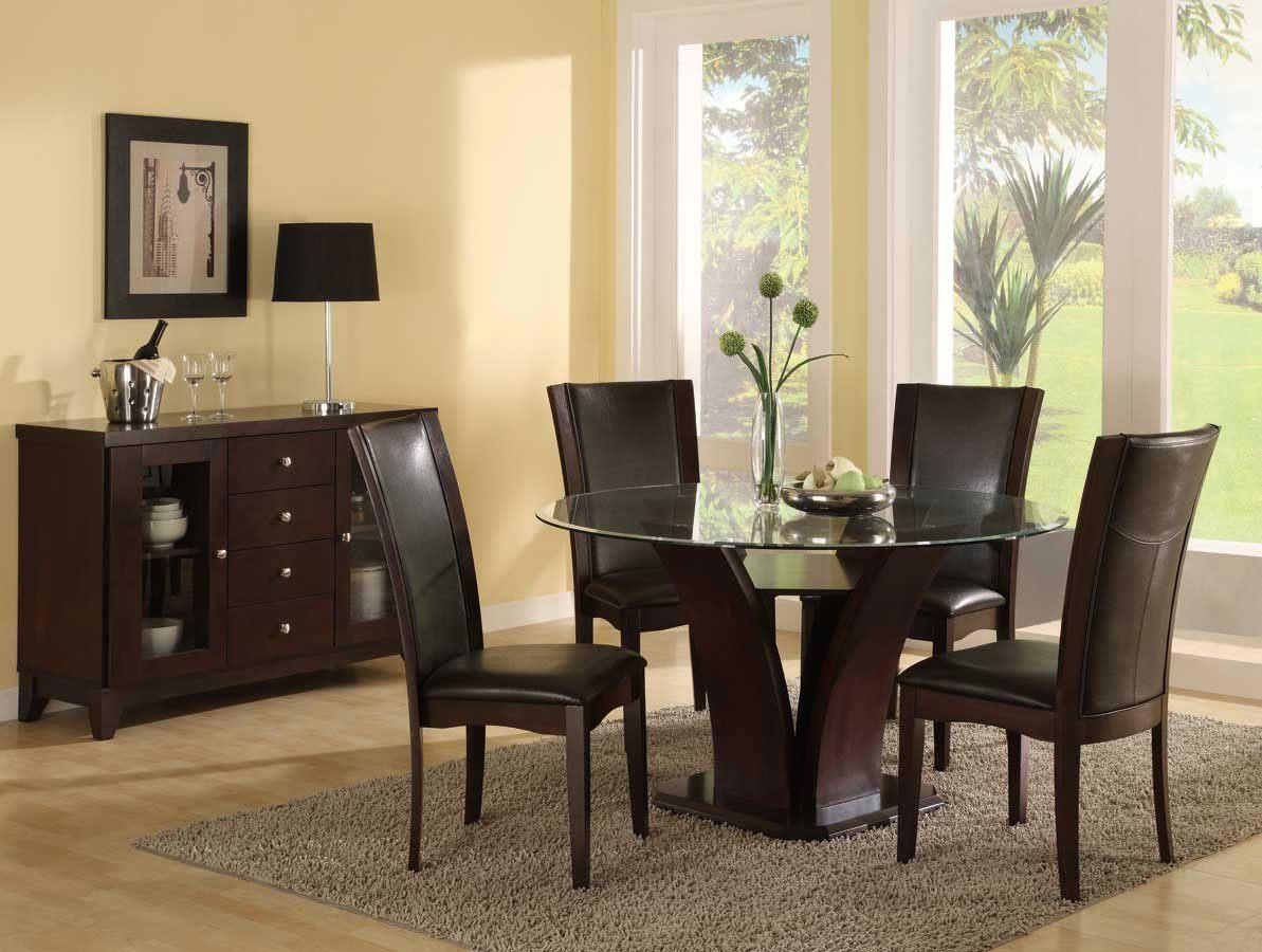 Galeria de fotos e imagens mesas de jantar for Mesas redondas de cristal para comedor