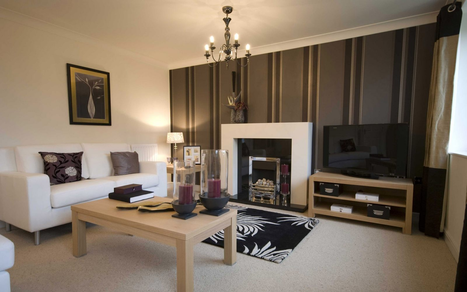 Papel de parede para uma sala barroca moderna fotos e - Pinturas para salones modernos ...
