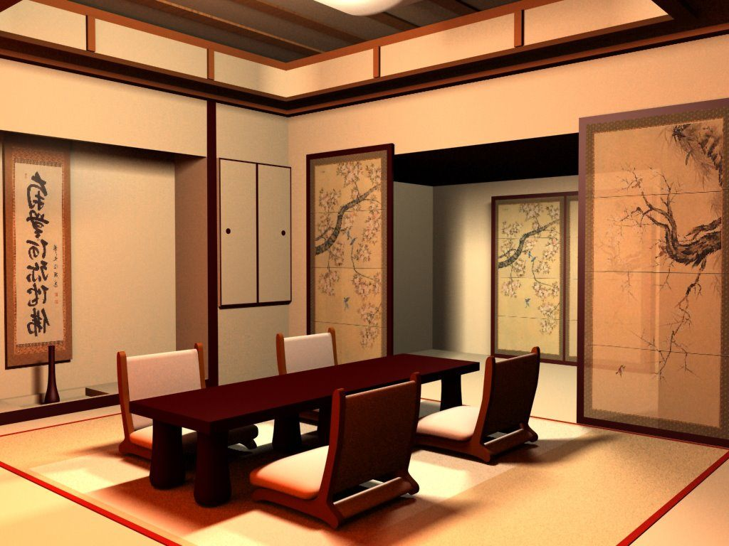Salas japonesas for Japanese style living room decoration