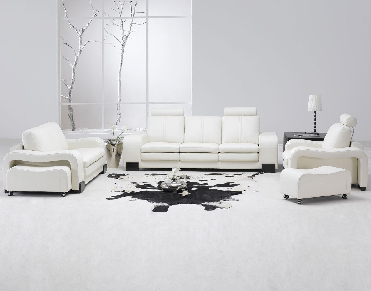 decoracao branca sala:Modern White Living Room