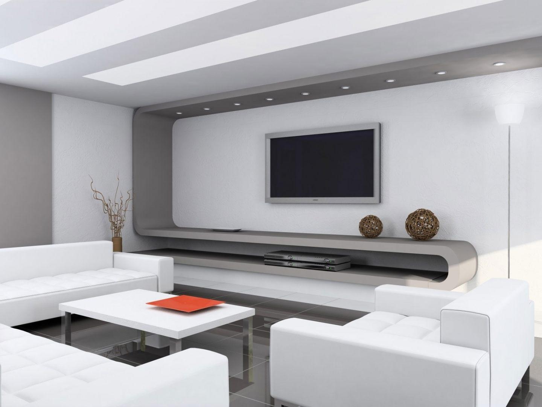 Sala moderna branca fotos e imagens for Fotos salas modernas