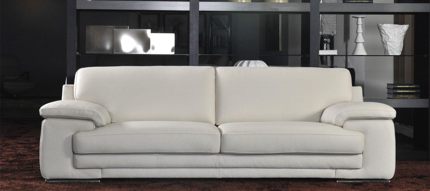Sof moderno de couro branco fotos e imagens for Sofas modernos de diseno
